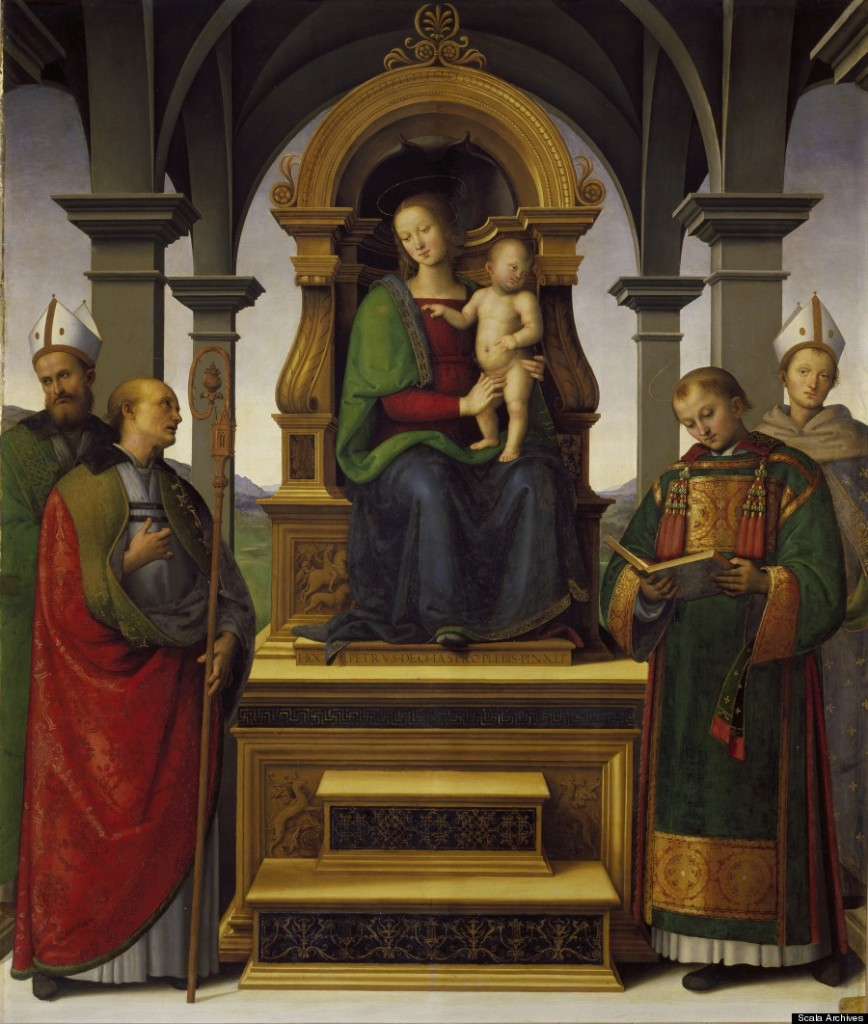 Pinacoteca, Sala VII: Madonna and Child with Saints - by Pietro Perugino, 1495