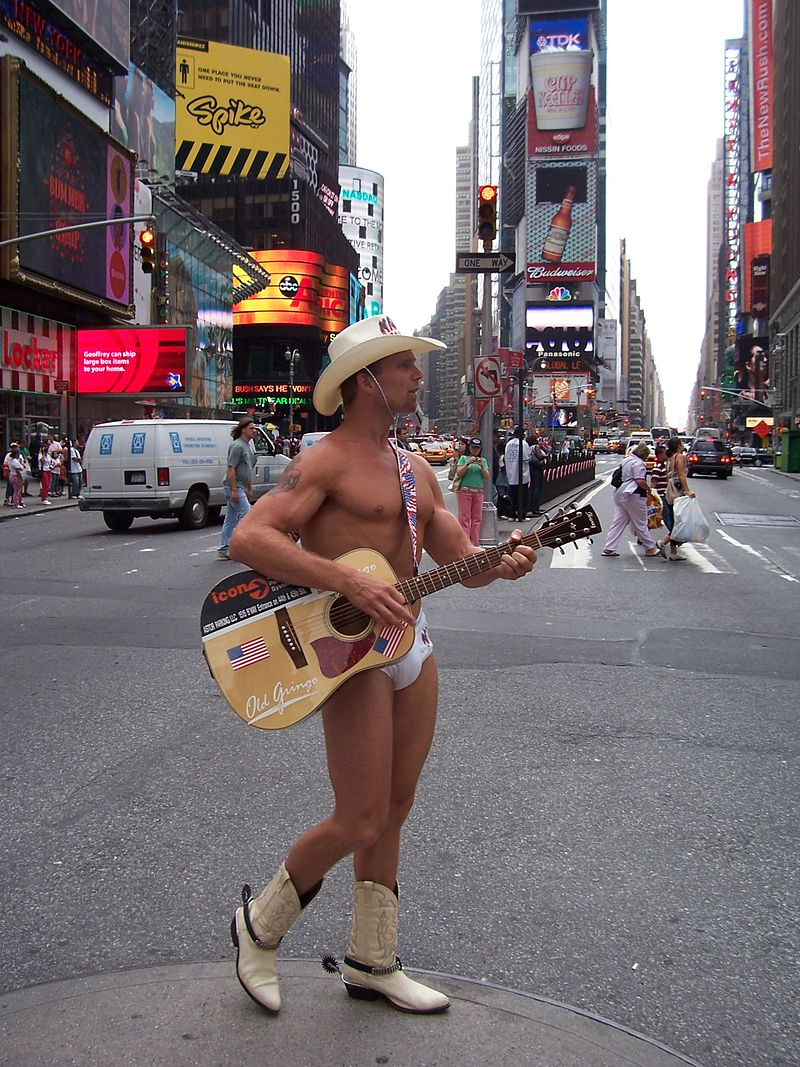 Naked Cowboy – word match