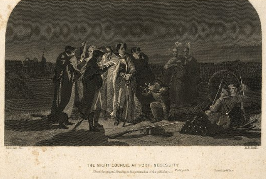 The_Night_Council_At_Fort_Necessity_from_the_Darlington_Collection_of_Engravings